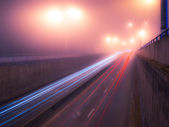 Foggy nightly Kiev — Stock Photo