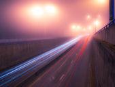 Foggy nightly Kiev — Stock Photo
