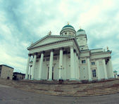 Dome church of Helsinki — Stock Photo