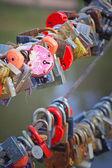 Love Padlocks At A Bridge — Stock Photo