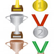 Medals and trophies — Stock Vector