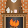 Royalty-Free Stock Vector Image: Fireplace