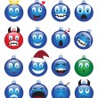 Christmas decorations-emotions — Stock Vector