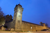 Cardiff Castle at Night — Stock Photo