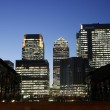Canary Wharf Skyline at Night — Stock Photo