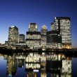 Stock Photo: Canary Wharf Skyline at Night