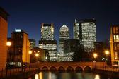 Canary Wharf Skyline at Night — Stock Photo