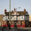 Stock Photo: Outside view of english pub