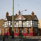 Outside view of a english pub — Stock Photo