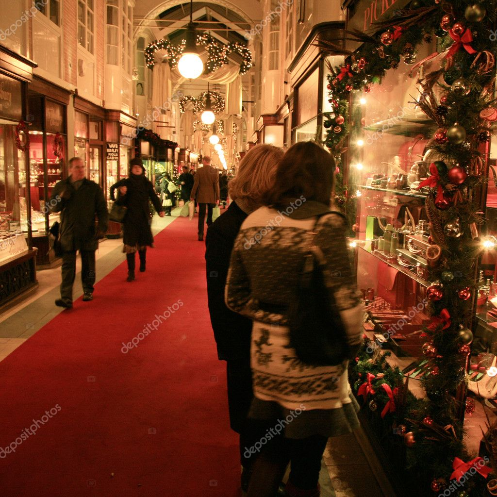 London, UK - December 21, 2010: Inside view of Burlington Arcade, 19th century European shopping gallery, behind Bond Street from Piccadilly through to Burlington Gardens, opened in 1819 for the sale of jewellery and fancy articles. — Stock Photo #11070007
