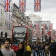 Queen's Diamond Jubilee decoration, Oxford Street — Stock Photo #11092459
