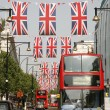 Queen's Diamond Jubilee decoration, Oxford Street — Stock Photo #11092661