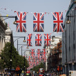Queen's Diamond Jubilee decoration, Oxford Street — Stock Photo #11092710