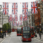 Queen's Diamond Jubilee decoration, Oxford Street — Stock Photo