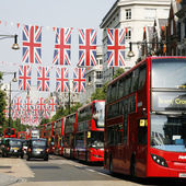 Queen's Diamond Jubilee decoration, Oxford Street — Stok fotoğraf