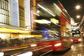 Motion Blur of London Bus — Stock Photo