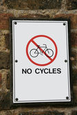No Cycles sign — Stock Photo