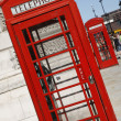 London Red Telephone Booth - Stock Photo
