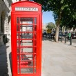 London Red Telephone Booth — Stok fotoğraf