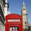 Big Ben and Red Telephone Booth — Stock Photo #11281604
