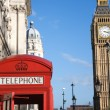 Big Ben and Red Phone Booth — Foto Stock