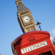Big Ben and Red Phone Booth — Stock Photo #11282226