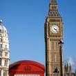 Big Ben and Red Phone Booth — Foto de Stock
