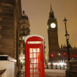 London Telephone Booth and Big Ben — Stock Photo #11283924