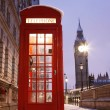 London Telephone Booth and Big Ben — Stock Photo #11284035