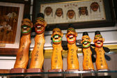 Changsung - Traditional artworks in an insadong suvniershop — Stock Photo