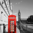Big Ben and Red Telephone Booth — Stock Photo #11301620