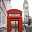 Stock Photo: Big Ben and Red Telephone Booth