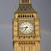 Big Ben with Rainbow — Stock Photo
