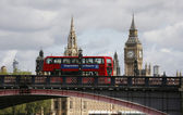 London skyline, Westminster Palace, Big Ben and Central Tower — Stock Photo