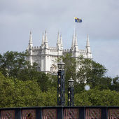 London skyline, Westminster Abbey — Stock Photo