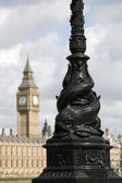 Big Ben and lampost — Stock Photo