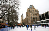 Natural History Museum's Ice Rink — Stock Photo