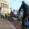 Stock Photo: Bicycle commuters in London
