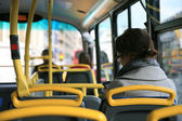 London Bus Commuter — Stock Photo