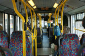 Interior of London City Bus — Stock Photo