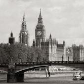Horizonte londres, palacio de westminster, big ben y torre de victoria — Foto de Stock