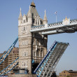 Stock Photo: Tower Bridge, lifted.
