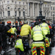 Stock Photo: St John Ambulance aiders at THE BIG RIDE, London Cycling Campaign.
