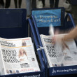 Stock Photo: Pile of popular Evening Standard, free daily newspaper
