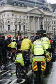 St John Ambulance aiders at THE BIG RIDE, London Cycling Campaign. — Stock Photo