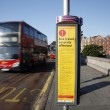 Bus Disruption Sign, London Olympic — Stock Photo #12169018