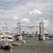 Tower Bridge with Olympic Rings — Stock Photo #12185540