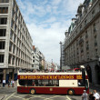 Stock Photo: Open-top City Tour Bus, London