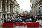 Open-top City Tour Bus, London — Stock Photo