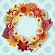 Royalty-Free Stock Vector Image: Flower wreath